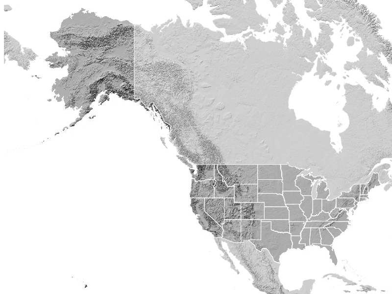 The US with Alaska and Hawaii in Mercator--a bad map