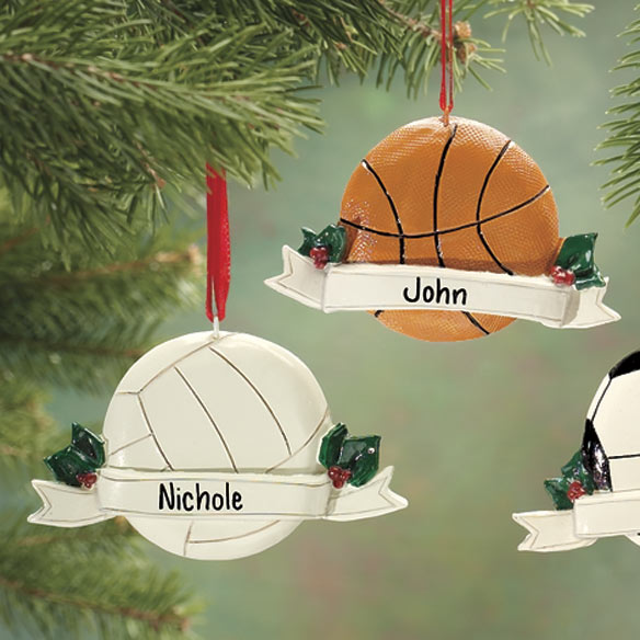 Personalized Sports Ornament Sports Ornament Miles Kimball