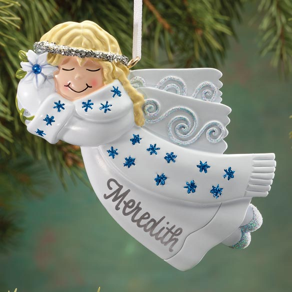 Personalized Birthstone Angel Ornament Christmas Miles