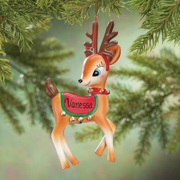 Personalized Vintage Reindeer Ornament Christmas