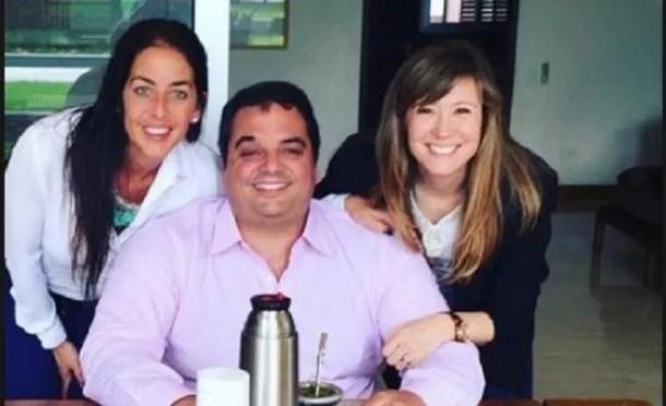 Jorge Triaca y sus hermanas<br>