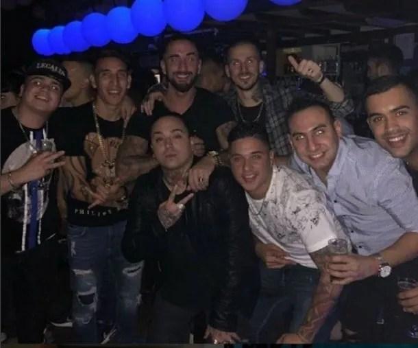 Centurión en un boliche tras la caída de Racing en la Copa Argentina