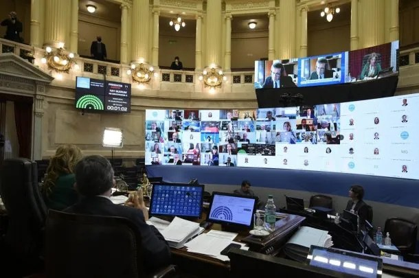 Cristina Kirchner presidió la primera de las sesiones virtuales del Senado | Crédito:@SenadoArgentina