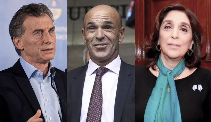 Mauricio Macri, Gustavo Arribas y Silvia Majdalani