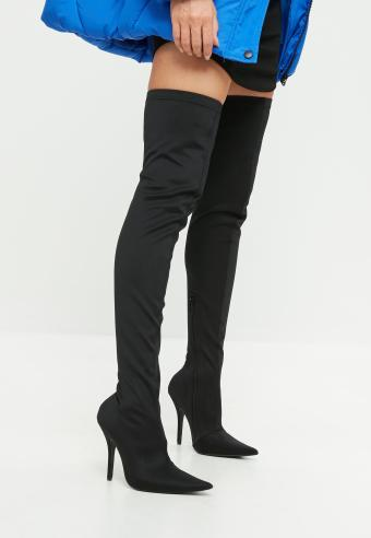 566d7ba7f3b 15 Must-Have Outfits With Black Thigh High Boots - Society19