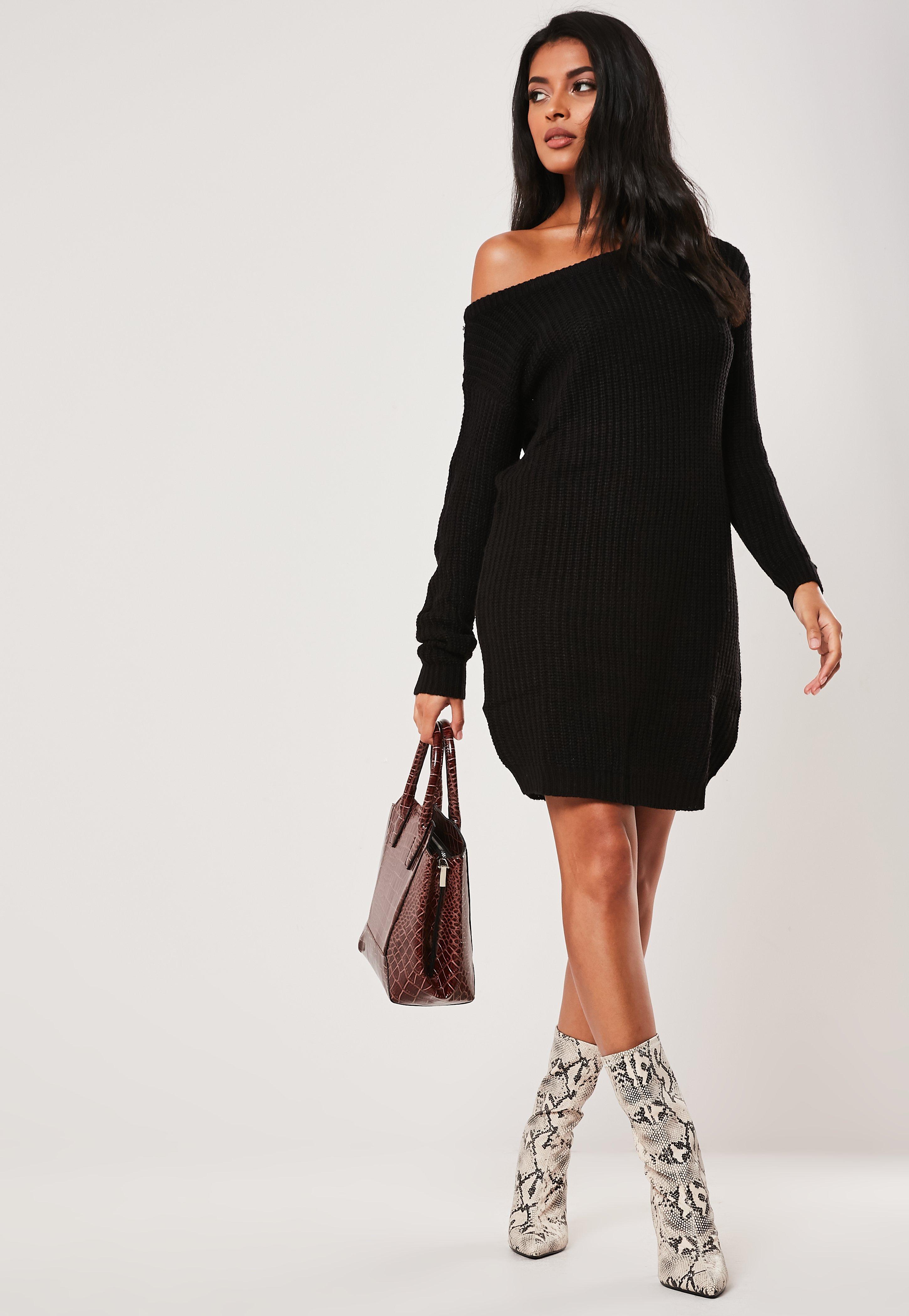 Plus Size Shoulder Black Sweatshirt