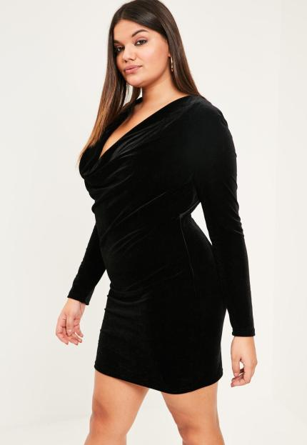 Afbeeldingsresultaat voor missguided plus size velvet dress