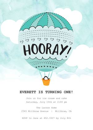 penguin hot air balloon birthday by pennie post girls birthday party invitations