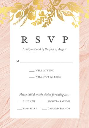 Custom Rsvp Cards And Wedding Response Card Templates