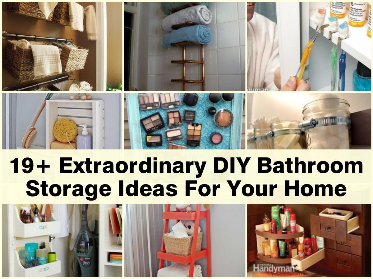 19+ Extraordinary DIY Bathroom Storage Ideas For Your Home
