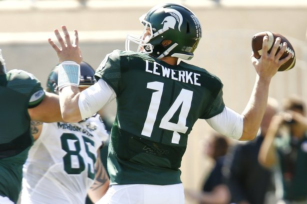 Image result for brian lewerke michigan state