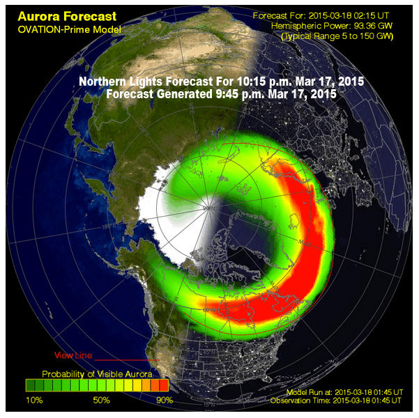 Northern Lights Forecast Michigan