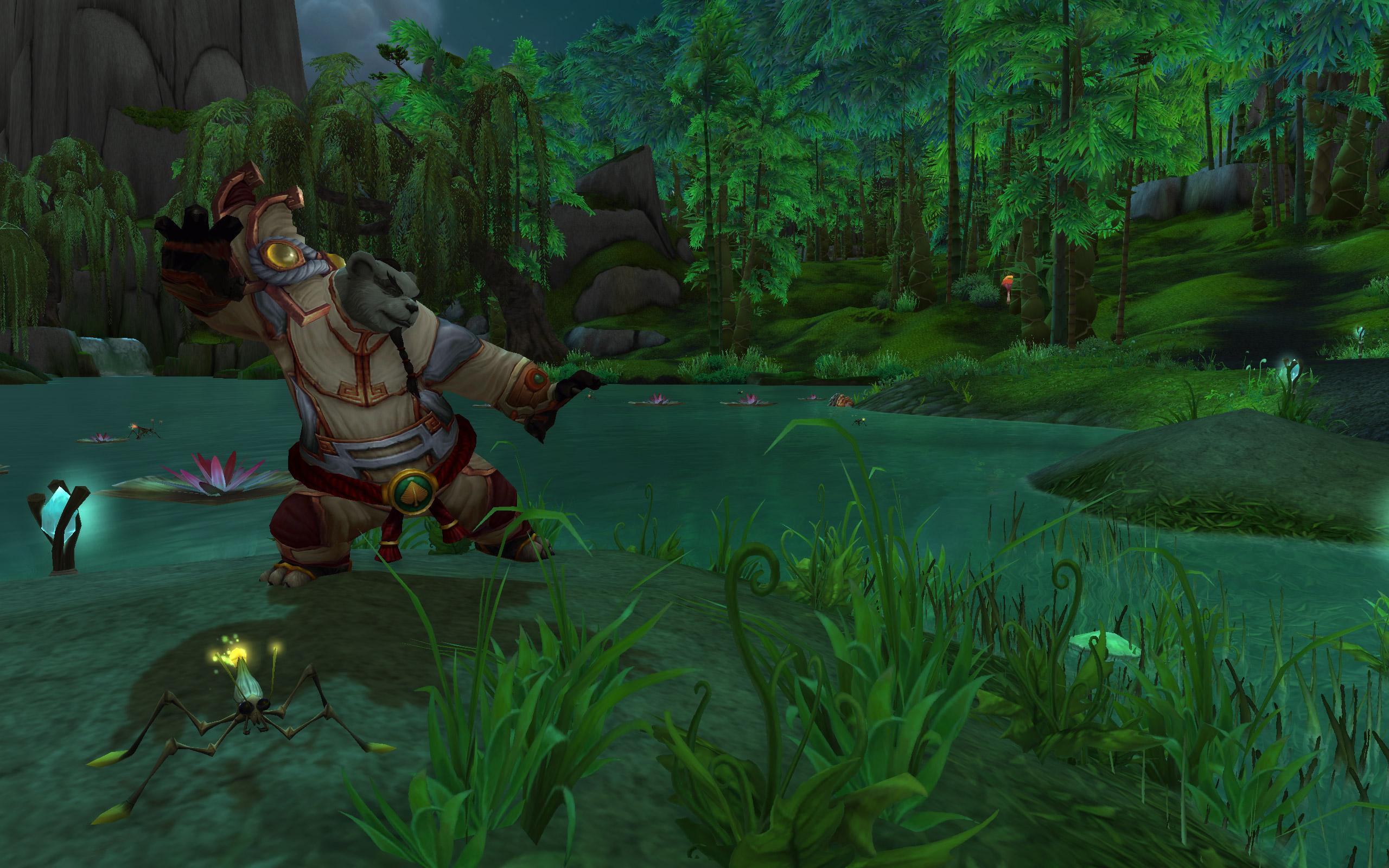 A Pandaren monk in Mists of Pandaria