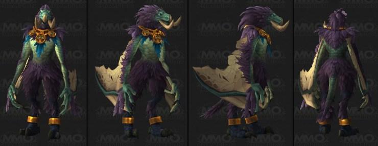 World of Warcraft: Zandalari Troll druid forms look absolutely insane
