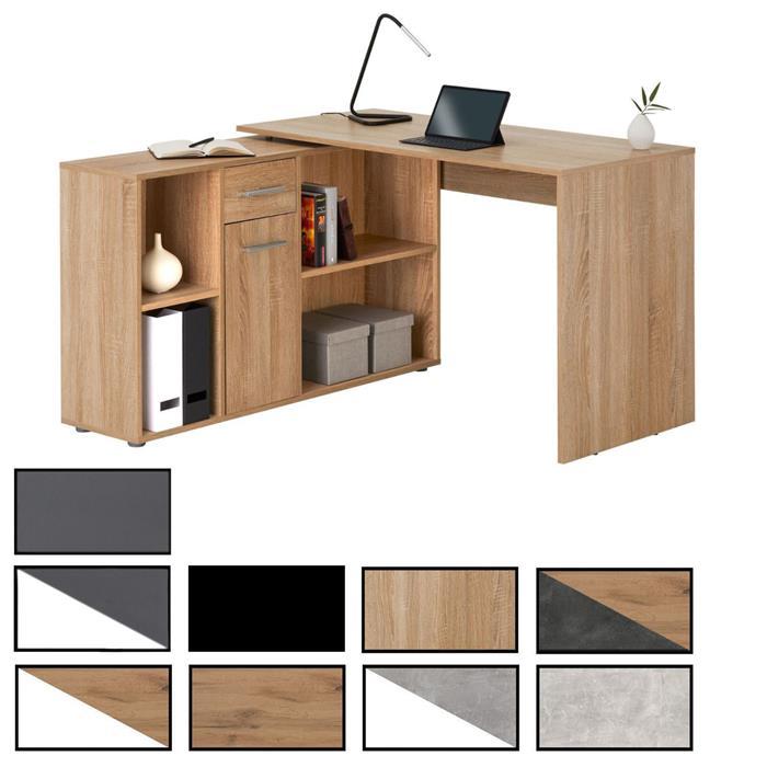 bureau d angle carmen avec meuble de rangement