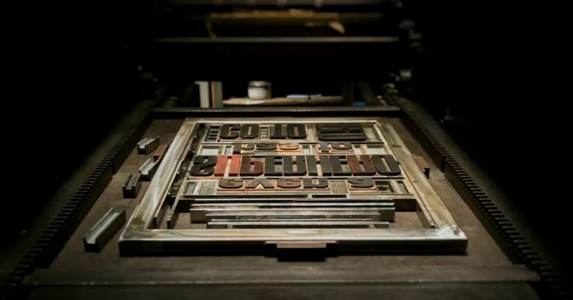 Photo of print type laid out representative of WordPress