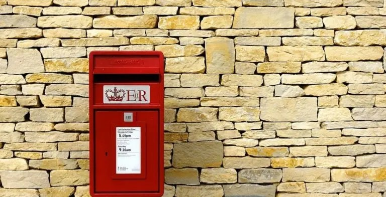 Photo of a red mailbox that is representative of email marketing.
