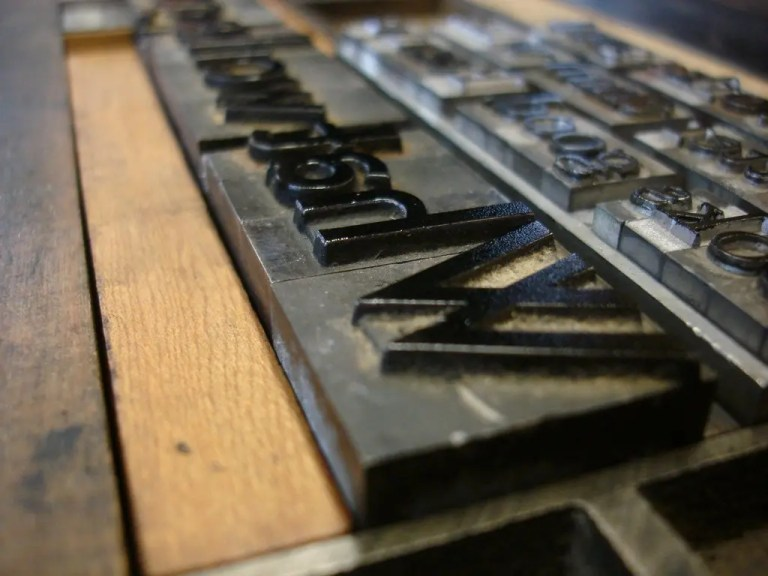 Photo of metal type representative of typography