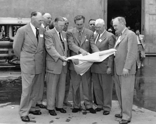 Photo of Walt Disney and executives.