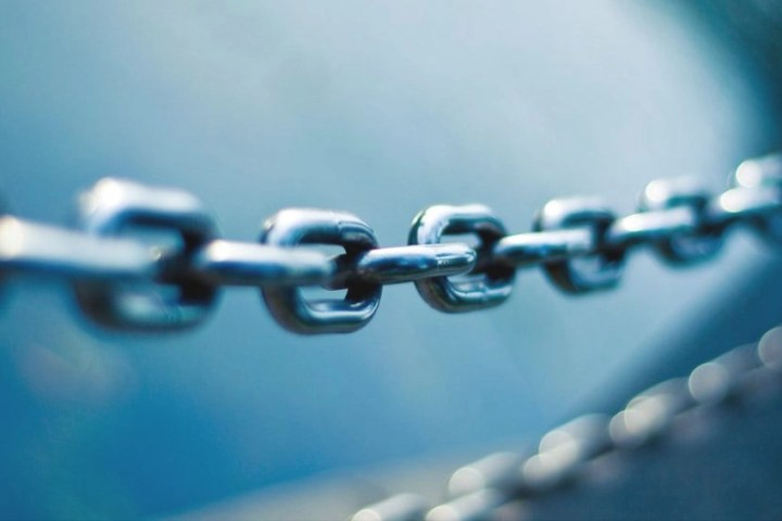 Photo of chain links.
