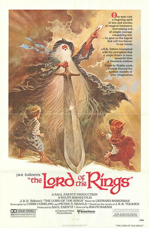 Lord Of The Rings Anime 1987 Movie Cover Image The