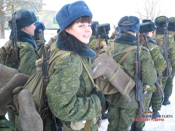 Belorussian Female Soldiers on exercise image - Females In ...