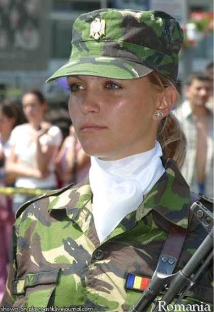 Romanian female soldier image - Females In Uniform (Lovers ...