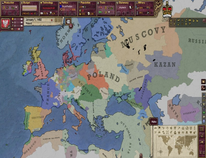 Europe in 1492 image   Victoria 2 Ultimate submod   More timelines     Add media Report RSS Europe in 1492  view original