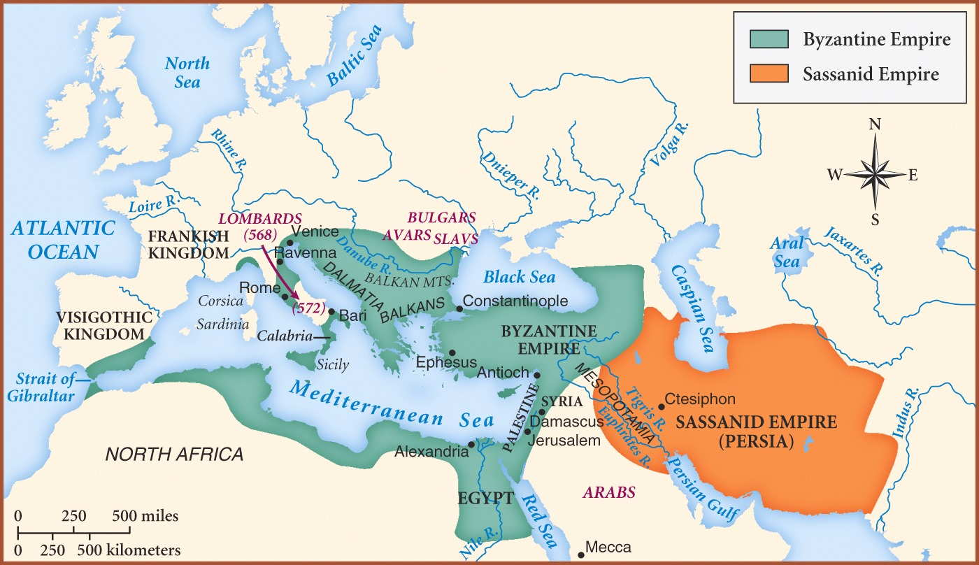 Byzantine Empire And Sassanid Empire Image