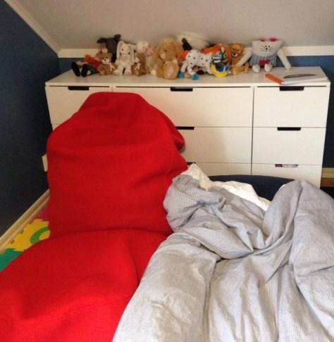 Lillans sovrum förberett för en riktigt snorig natt