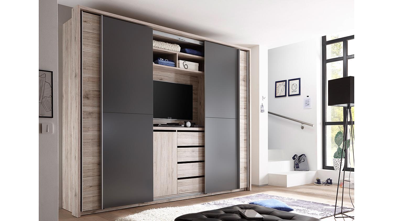 Kleiderschrank Mit Integriertem Fernseher Ein Moderner