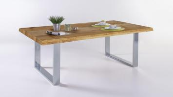 Esstisch TIM Tisch Tischsystem in Eiche massiv Baumkante ...