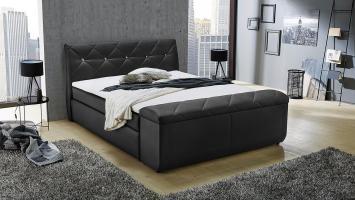 Boxspringbett SAMANTHA Bett für Schlafzimmer in schwarz ...