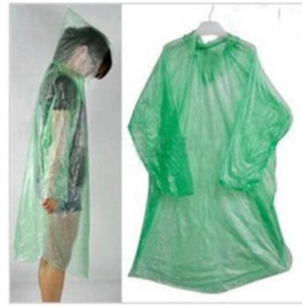 2 pack gröna lättvikts regnponchos (fri frakt)