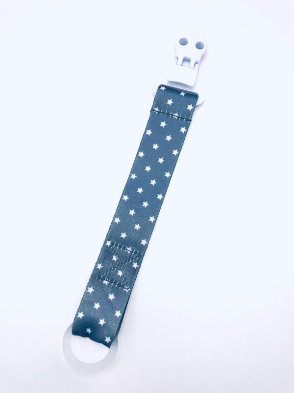 Presentpåse: Napphållare grå/vit stjärnor (fri frakt)