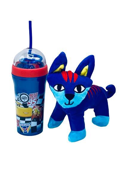 Presentpåse - Mjukisdjur och Blixten flaska
