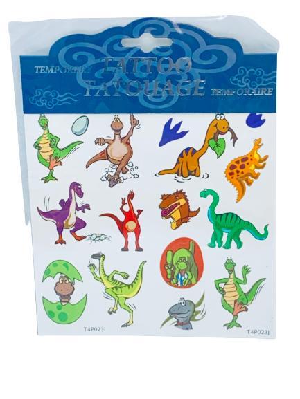 Dinosaurie tatueringar 17 st
