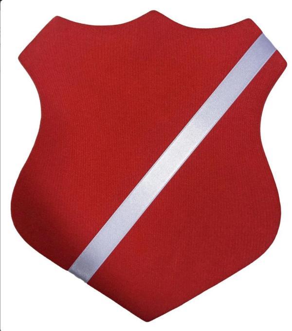 Märkessköld röd/vit