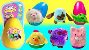 Presentförpackning - Egg Babies - mjukdjur överraskning