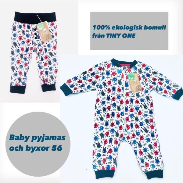 Babypaket: Matchande pyjamas och byxor storlek 56
