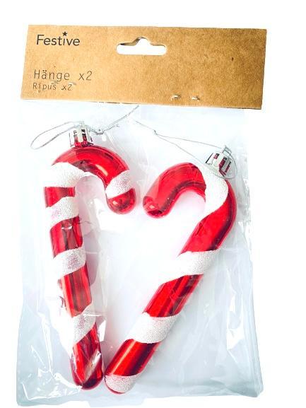 Julgranshängen polkastänger 2 pack jul