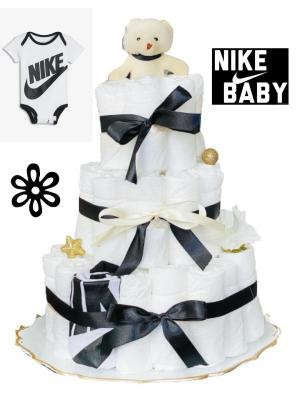 Blöjtårta XL till babyshower NIKE