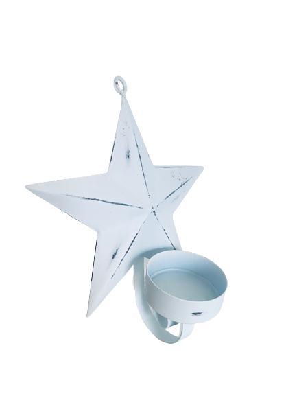 Shabby Chic väggdekoration stjärna ljus