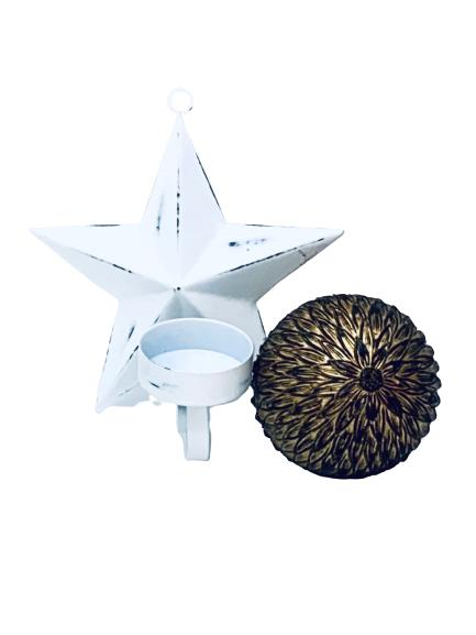 Presentpåse - jul (stjärna ljushållare, dekorationsboll)