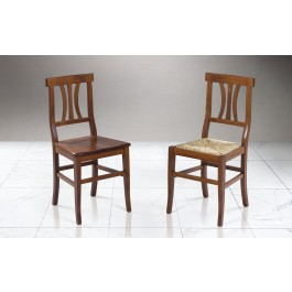 La sedia berlino, con seduta e schienale rivestiti in morbida similpelle e. Sedie Classiche Effetto Noce Silvia Mondo Convenienza