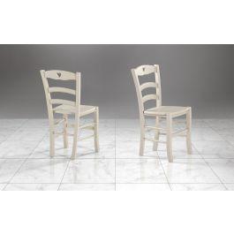 Tavolo wood e sedie nancy. Sedie Bianche Shabby Chic Cuore Mondo Convenienza