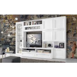 Web convenienza hamburg soggiorno/parete attrezzata bianco lucido/pero. Parete Soggiorno Moderna Bianca Sofia Mondo Convenienza