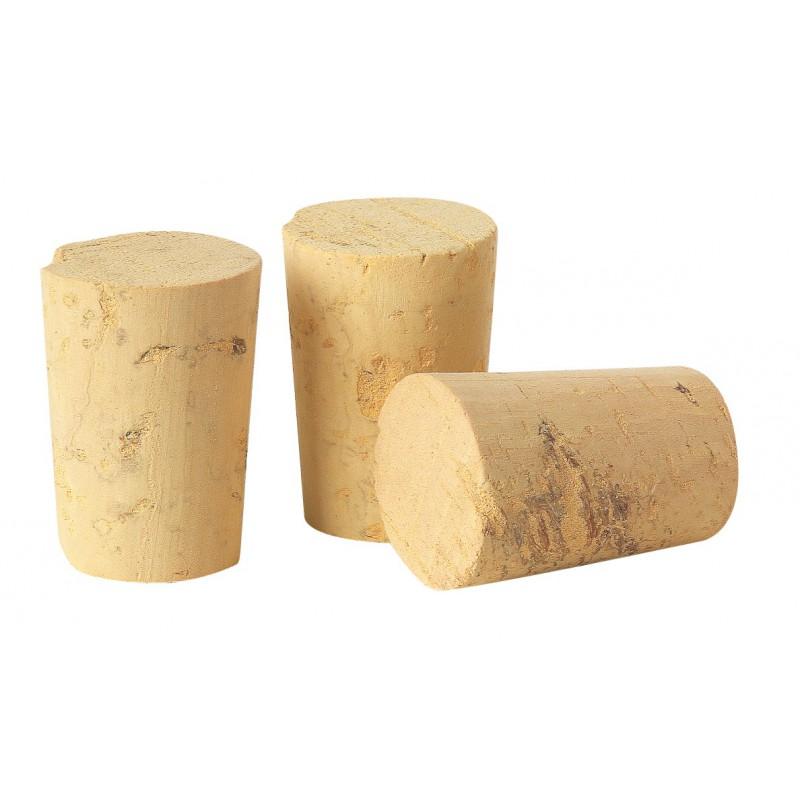 bouchon liege conique diametre conique de 23 a 18 mm vendu par 100