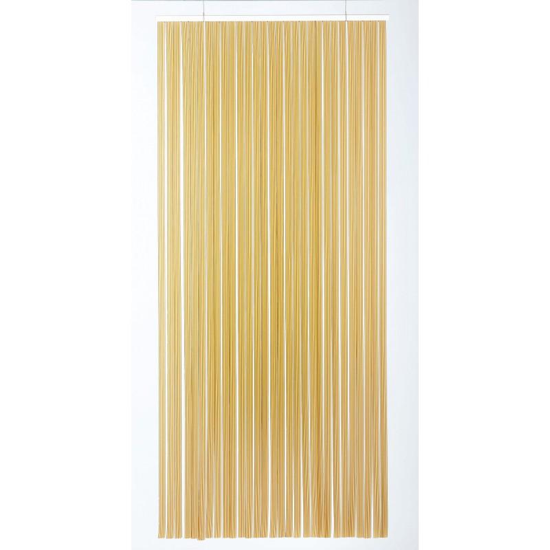 rideau de porte a laniere tahiti 120 x 220 cm brun et beige