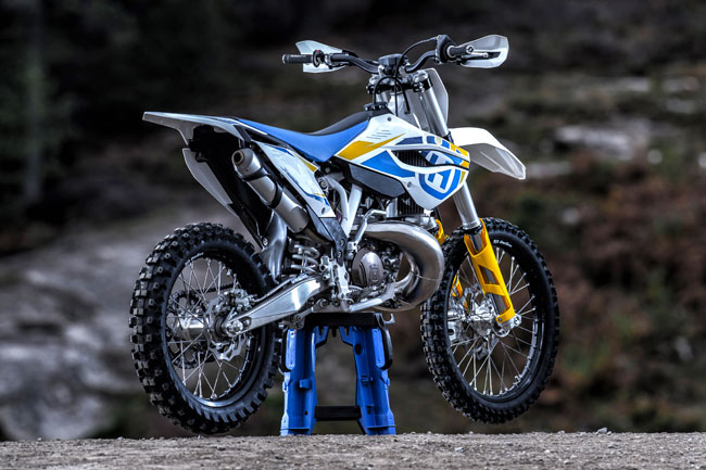 Two-strokes are a major part of Husqvarna's revamp. Here's the 2014 TC250.